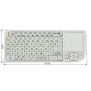 Wireless Ultra Mini Keyboard with Touchpad (White)