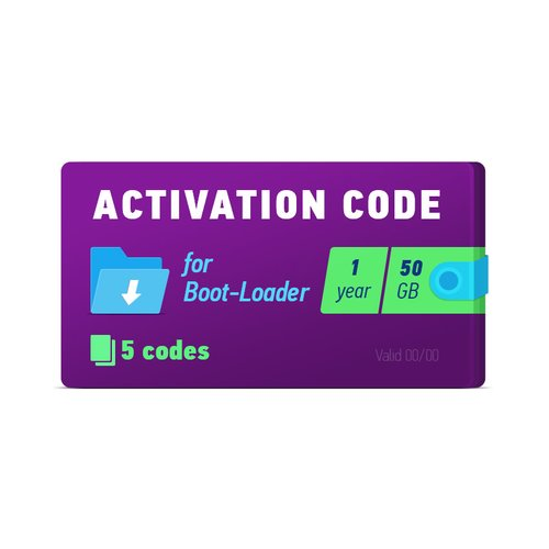 Boot-Loader 2 0 Activation Code (1 year, 5 codes x 50 GB) - GsmServer