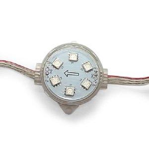 Juego de módulos LED redondos (todo color, 6 diodos LED SMD5050, 40 mm, IP67, 20 pcs.)