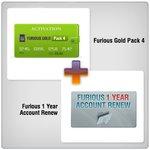 Продление доступа в зону поддержки Furious на 1 год + Furious Gold Pack 4