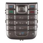 Клавиатура для Nokia 6233, серебристая, английская