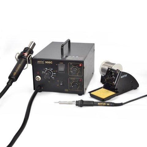 Термоповітряна паяльна станція з паяльником AOYUE 906C