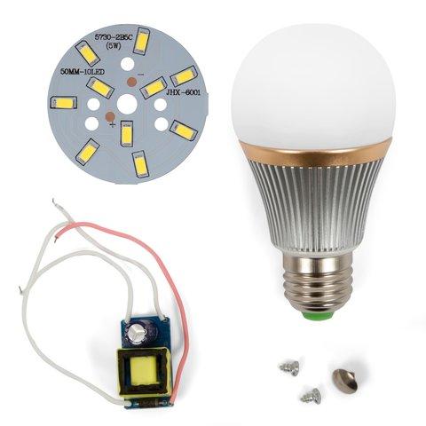 Комплект для збирання світлодіодної лампи SQ Q22 5730 5 Вт холодний білий, E27 , регулювання яскравості димірування