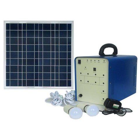 Портативна сонячна електростанція DC 50 Вт, 12 В 24 Аг, Poly 18 В 50 Вт