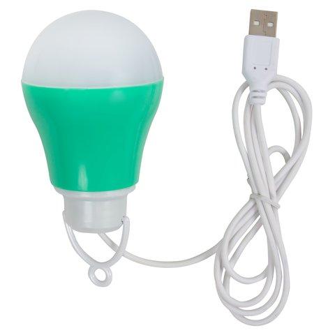 USB LED Light 5 W cold white, green housing, 5 V, 450 lm